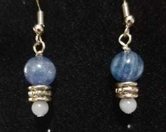 Crystal Earrings, Angelite Earrings, Kyanite Earrings, Gemstone Earrings, Nickel Free earrings, Natural Crystals
