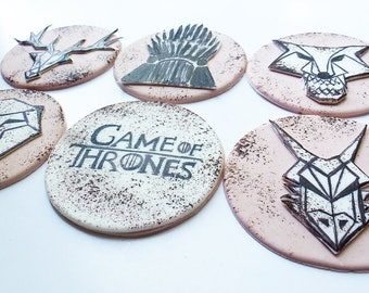 140 Game of Thrones 6 psc handmade Edible topper cupcake