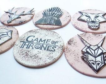 140 Game of Thrones 6 psc handmade Edible topper cupcake