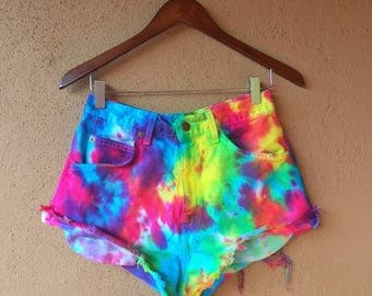 Tye Dye Vintage High Waisted Levi Shorts
