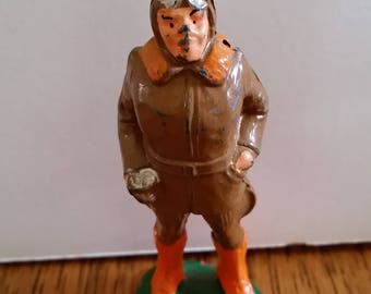 1930'S Manoil lead soldier aviator, pilot, lead figure, toy  soldier
