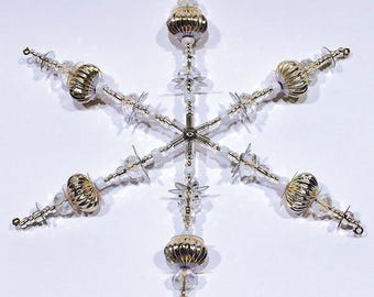 Beaded Snowflake Ornament No.6