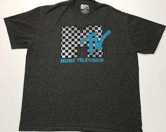 Vintage MTV Gray T Shirt Size 2XL VTG
