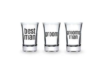 Groomsman Shot Glasses,best man shot glass, Groom Shot Glass, wedding Shot Glass, Bachelor Party Gift