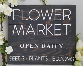 Flower Market | Wood Pallet Sign