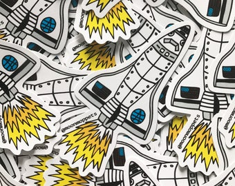 3 Space Shuttle Vinyl Stickers - by Moon Moppets