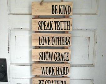 Be Kind Pallet Sign