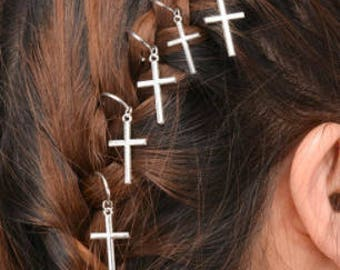 5 Cross Hair Hair Rings - Hair Jewelry - Festival - Festival Hair Accessories - Hair Rings