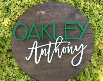 "22"" Diameter Name Sign 
