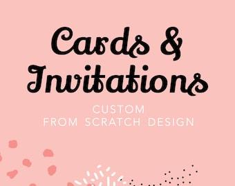 Custom From Scratch Invitation Card, Custom Invitation, Cards and Invitations, Custom Invite, Invitation Design, Printable Digital File
