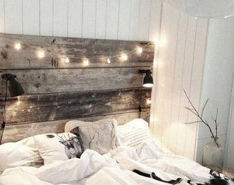 Barn wood Bed Head board reclaimed wood HUGE SALE 50% off our normal price.. Amish style Free USA Shipping