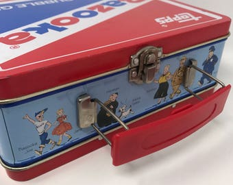 Vintage Bazooka Lunch Box- Bazooka Joe and Friends Tin Lunch Box- Topps Bazooka Gum Collectible Lunch Tin