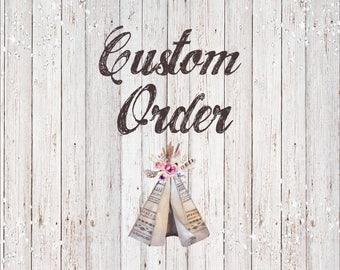 Custom Order for Lissette