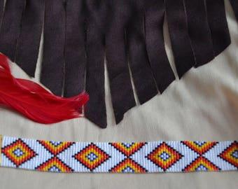 Bracelet weaved in pearls Miyuki Native American pattern