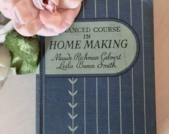 Vintage Homemaking Textbook - 1930's