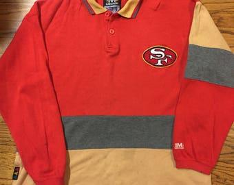 Vintage San Francisco 49ers long sleeve collar shirt