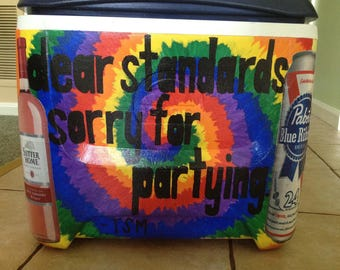 Custom painted personalized cooler
