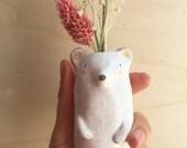 Soliflore ours en céramique