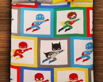 Super Hero Single Flat Bedsheet