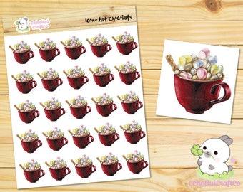 Hot Chocolate / Marshmallow Hot Chocolate / Drinks  Kawaii Icon Planner Sticker