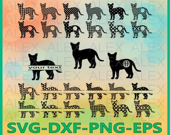 70% OFF, Cat Svg, png, eps, dxf, ai, Cat Silhouette, Cat Clipart, Animals Silhouettes, Silhouette Files, Cut Png File, Сat black