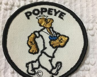 POPEYE the SAILOR Vintage Character Patch MINT Muscle Pipe Image