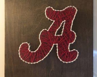 Alabama Logo String Art