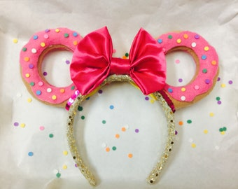 Double Sided Sprinkled Donut ears