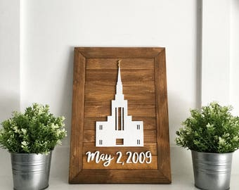 LDS Temple - Temple Sign - Wood Temple Sign - Custom LDS Temple - Wedding Gift - Anniversary Gift - Wood Wall Art - Temple Art