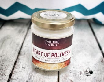 Heart of Polynesia  |  Moana inspired scented candle  |  Disney Lovers, Disney Inspired Candle, Literary Gift, Bookish Gift, Bookish Candle