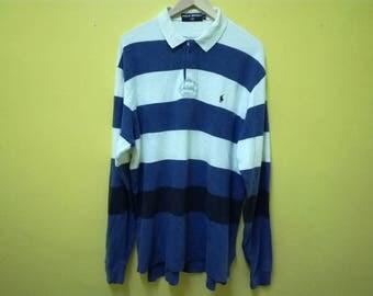 Vintage Polo Sport Shirt | Rugby Shirt | Ralph Lauren Stripes