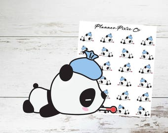 Panda Planner Stickers // Sick // Bad Day // Headache