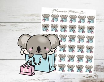Koala Planner Stickers // Shopping Spree // Me Time // Retail Therapy