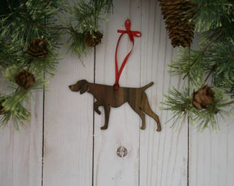 Customizable German Shorthaired Pointer Christmas Tree Ornament | Personalized Dog Ornament