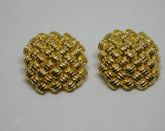 Christian Dior Earrings, Vintage Gold Tone