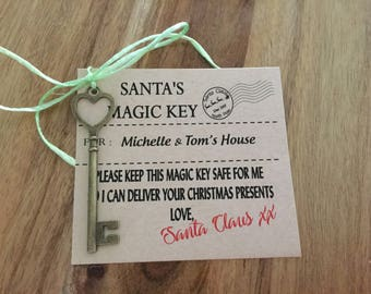 Santa's magic key // Christmas Key // Father Christmas // Christmas Eve // Key // Personalised Key for your house