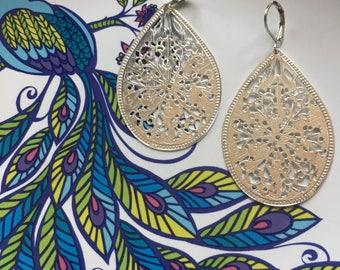 Big & silver dangle earrings
