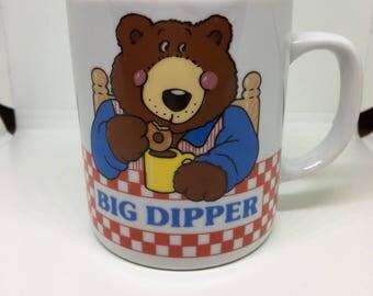 Big Dipper Cartoon Bear Mug