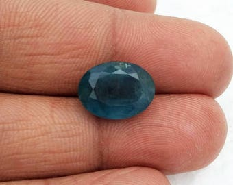 Natural MOSS AQUAMARINE faceted oval,cut stone,  9x13 mm ,  7.5 ct. , ring size gemstone,[E0094]