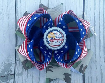 4th of July Cutie Patriotic Princess American Cutie American Sweetie Red White and Cute Proud American hair bow boutique pinwheel
