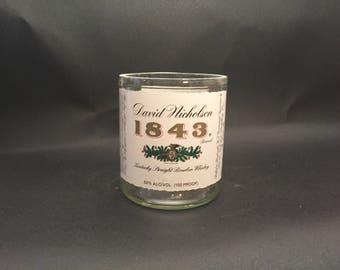 HANDCRAFTED Candle 1843 David Nicholson Bourbon WHISKEY BOTTLE Soy Candle. With/Without Base. Made to Order !!!!!
