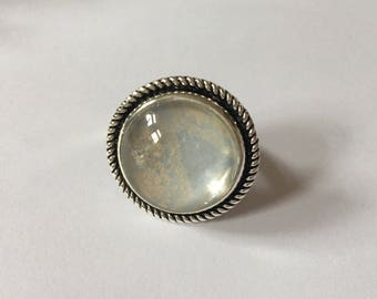 Handmade Silver Vintage Style Adjustable Ring
