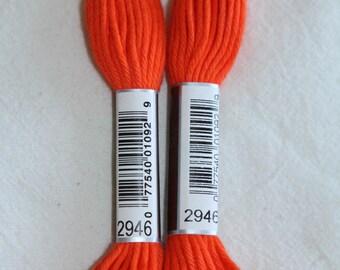 Cotton ORANGE twined 89 N 2946 DMC canvas