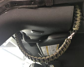 Jeep Wrangler Paracord Double Wrapped Grab Handles - Headrest