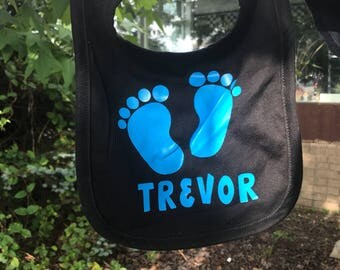 Baby Feet Bib Personalized with Name