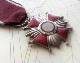 Cross of Merit P.R.L. silver. Poland • Polish Order