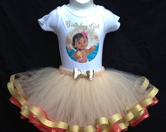 Moana Birthday girl Tutu outfit
