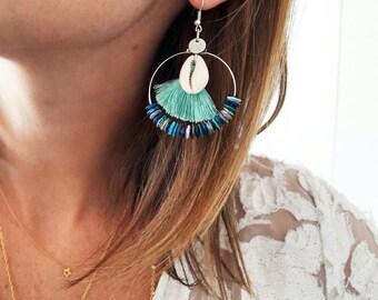 Salins silver hoop earrings