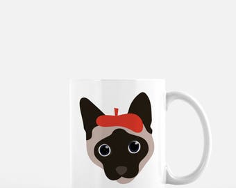 Personalized Siamese Cat Mug, Siamese Cat Coffee Mug, Cat Mug, Siamese Mug, Siamese Cat Coffee Cup, Siamese Cat Cup, Cat Coffee Mug, Siamese