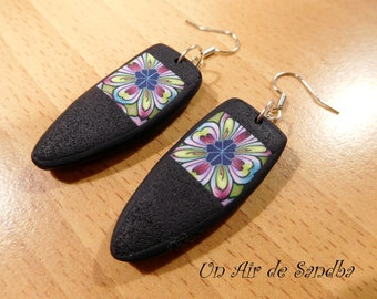 "Earrings ""Flora"", polymer clay."